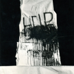 HELP Dedicato a J. Dine, Melfi, Villa Comunale 7-08-80, Happening-Legno e carta, m. 5 circa. Foto P. Ciliento